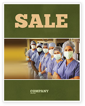 Medical: Medical Personnel In Hospital Sale Poster Template #05749