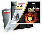 Religious/Spiritual: Candle In Hands Brochure Template #05771