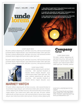 Candle In Hands Newsletter Template