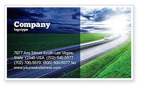 Construction: Dawn Highway Business Card Template #05781