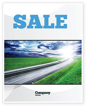 Dawn Highway Sale Poster Template, 05781, Construction — PoweredTemplate.com
