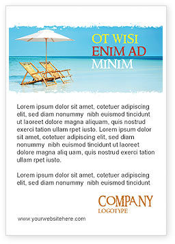 Holiday/Special Occasion: Beach Bench Advertentie Template #05791