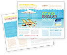 Careers/Industry: Beach Bench Brochure Template #05791