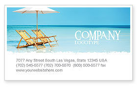 Holiday/Special Occasion: Beach Bench Visitekaartje Template #05791