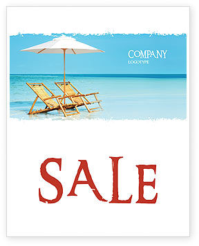 Beach Bench Sale Poster Template, 05791, Holiday/Special Occasion — PoweredTemplate.com