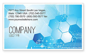 Technology, Science & Computers: Telecommunication Cells Business Card Template #05801