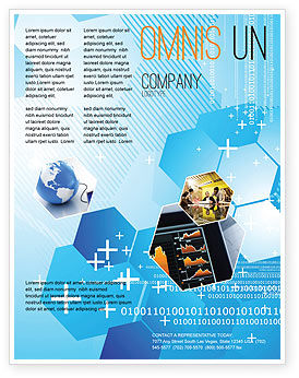 Technology, Science & Computers: Telecommunication Cells Flyer Template #05801