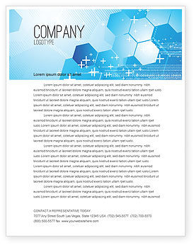 Technology, Science & Computers: Telecommunication Cells Letterhead Template #05801