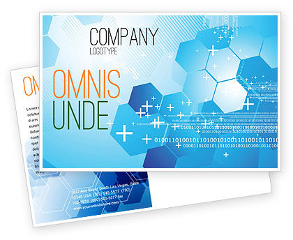 Technology, Science & Computers: Telecommunication Cells Postcard Template #05801