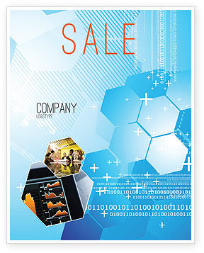 Technology, Science & Computers: Telecommunication Cells Sale Poster Template #05801