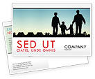 People: Family Walk Postcard Template #05802