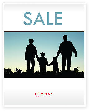 Family Walk Sale Poster Template, 05802, People — PoweredTemplate.com