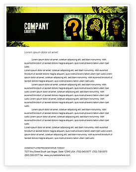 Business Concepts: Thinking Process Letterhead Template #05809
