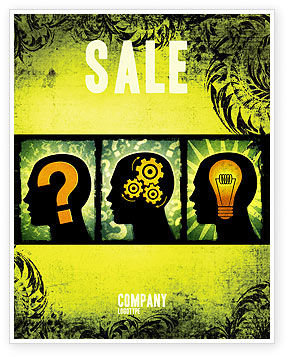 Thinking Process Sale Poster Template, 05809, Business Concepts — PoweredTemplate.com