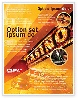 Casino Flyer Template, 05811, Careers/Industry — PoweredTemplate.com