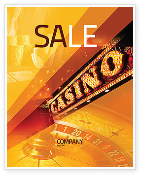Casino Sale Poster Template, 05811, Careers/Industry — PoweredTemplate.com