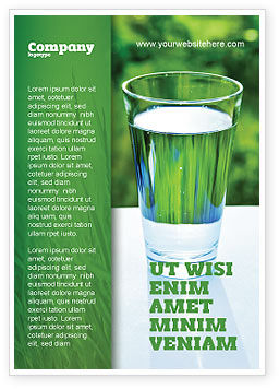 Food & Beverage: Glas Water Advertentie Template #05815