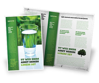 Glass of water brochure template design and layout for Water brochure template