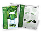 Food & Beverage: Glass of Water Brochure Template #05815