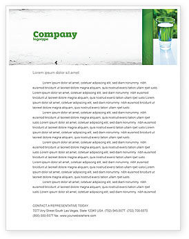 Glass of Water Letterhead Template, 05815, Food & Beverage — PoweredTemplate.com