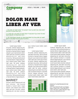 Food & Beverage: Glass of Water Newsletter Template #05815