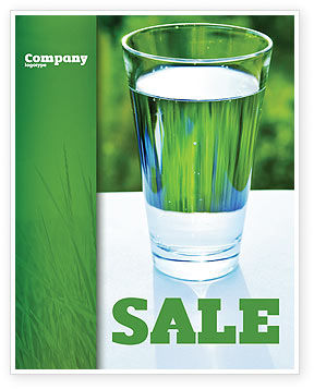 Glass of Water Sale Poster Template, 05815, Food & Beverage — PoweredTemplate.com
