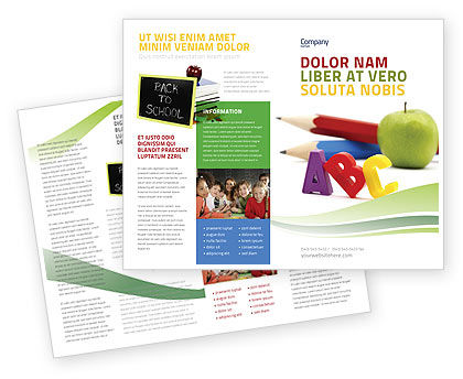 Education brochure templates design and layouts for School brochure template free