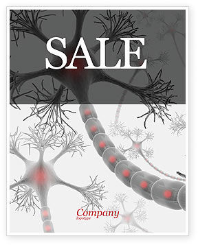 Neural Nodes Sale Poster Template, 05826, Medical — PoweredTemplate.com