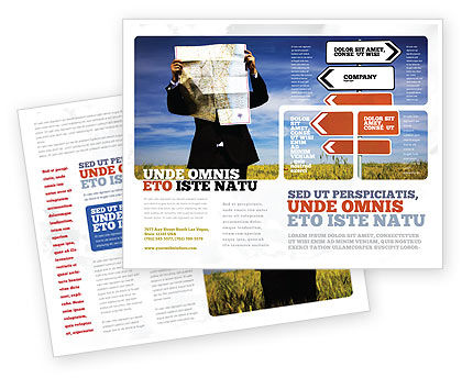 Choosing Root Brochure Template, 05832, Business Concepts — PoweredTemplate.com