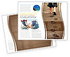 Religious/Spiritual: Sand Footprints Brochure Template #05834