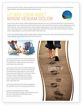Religious/Spiritual: Sand Footprints Flyer Template #05834