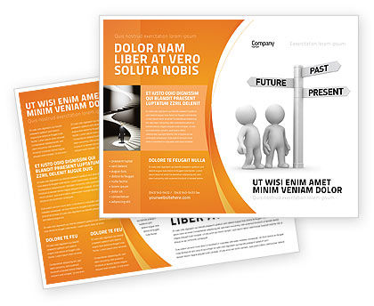 Present Past Brochure Template, 05847, Consulting — PoweredTemplate.com
