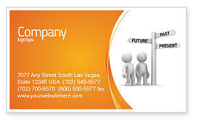 Present Past Business Card Template, 05847, Consulting — PoweredTemplate.com