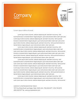 Consulting: Present Past Letterhead Template #05847