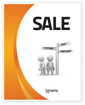 Present Past Sale Poster Template
