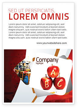 Education & Training: Apples ABC Ad Template #05849