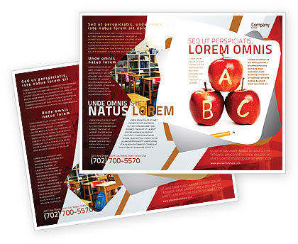 Education & Training: Apples ABC Brochure Template #05849