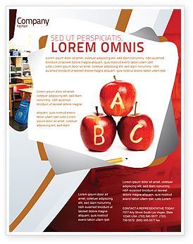 Apples ABC Flyer Template, 05849, Education & Training — PoweredTemplate.com