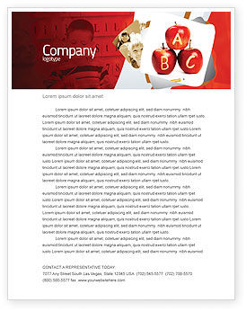 Apples ABC Letterhead Template, 05849, Education & Training — PoweredTemplate.com