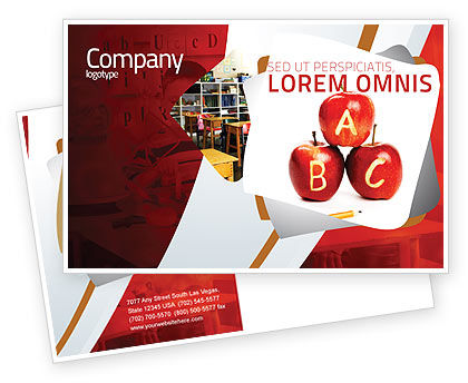 Education & Training: Apples ABC Postcard Template #05849