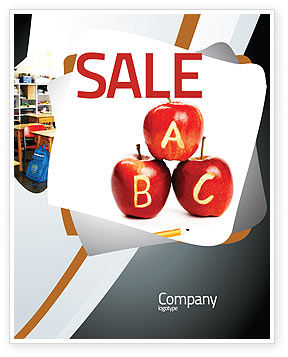 Apples ABC Sale Poster Template