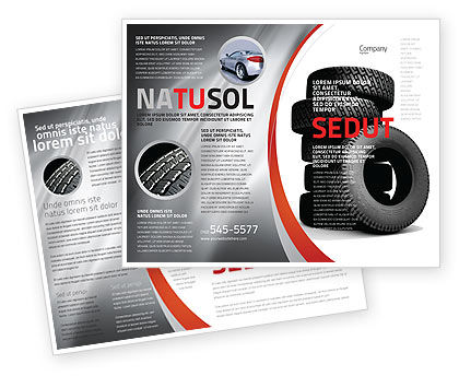 Careers/Industry: Tires Brochure Template #05850