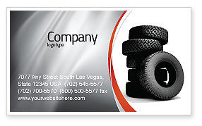 Tires Business Card Template, 05850, Careers/Industry — PoweredTemplate.com