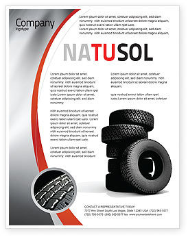 Tires Flyer Template, 05850, Careers/Industry — PoweredTemplate.com