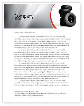 Careers/Industry: Tires Letterhead Template #05850