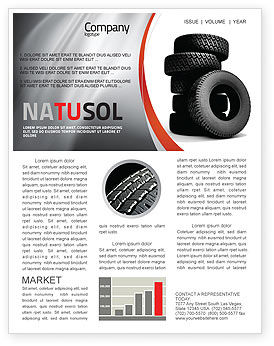 Tires Newsletter Template, 05850, Careers/Industry — PoweredTemplate.com