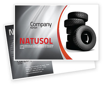 Careers/Industry: Tires Postcard Template #05850