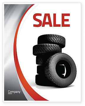 Careers/Industry: Tires Sale Poster Template #05850