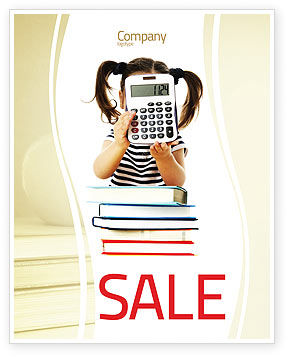 Education & Training: School Math Sale Poster Template #05855