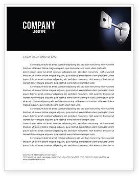 Business Concepts: Plantilla de membrete - llave #05857